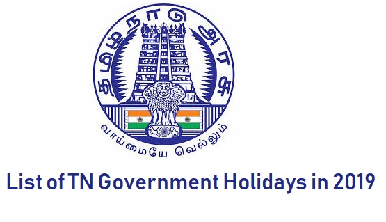 TN govt Holidays list